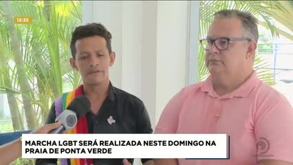 Marcha LGBT será realizada neste domingo na Praia de Ponta Verde