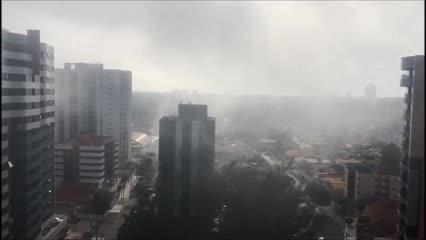 Neblina chamou atenção dos maceioenses no início desta quinta-feira