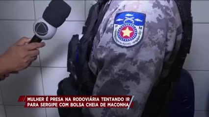 Mulher é presa na rodoviária tentando ir para Sergipe com bolsa cheia de maconha