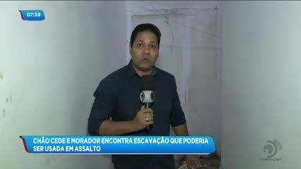 Piso de residência cede e revela 'túnel subterrâneo' para base de empresa de segurança