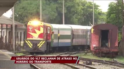 Usuários do VLT reclamam de atraso no horário do transporte