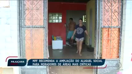 MPF recomenda a ampliação do aluguel social para moradores de áreas mais críticas