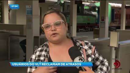 Usuários reclamam de atrasos do VLT