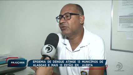 Epidemia de dengue atinge 13 municípios de Alagoas