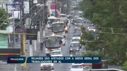 Milhares são afetados com a greve geral dos trabalhadores de Alagoas