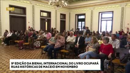 9ª edição da Bienal Internacional do Livro ocupará ruas históricas de Maceió
