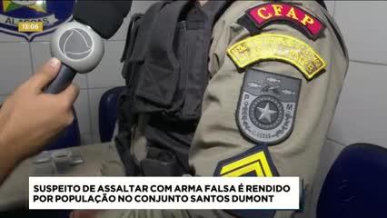 Homem foi preso após tentar assaltar com uma arma falsa no Santos Dumont
