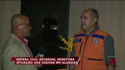Defesa Civil Estadual monitora situação das chuvas em Alagoas