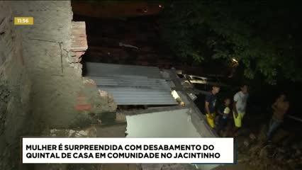 Parte de uma casa desabou no bairro do Jacintinho
