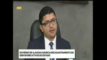 Governo de Alagoas anuncia recadastramento de servidores ativos do Estado