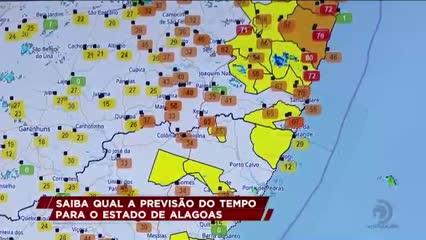 Sala de Alerta emite nova previsão de chuvas para Alagoas
