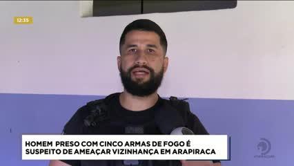 Homem preso com 5 armas de fogo é suspeito de ameaçar vizinhança em Arapiraca
