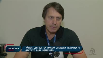 Vários centros aqui em Maceió oferecem tratamento gratuito para depressão
