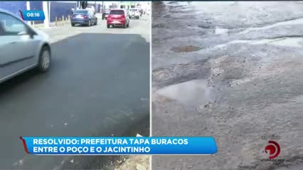Resolvido: Prefeitura tapa buracos na Avenida Comendador Calaça