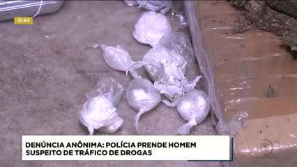 Homem  foi preso suspeito de tráfico de drogas
