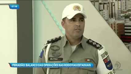 Balanço das operações policiais durante o feriadão