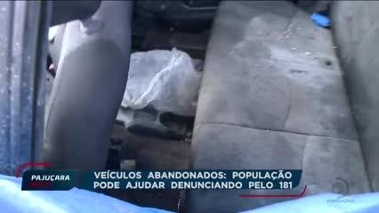 Veículos abandonados: população pode ajudar denunciando pelo 181