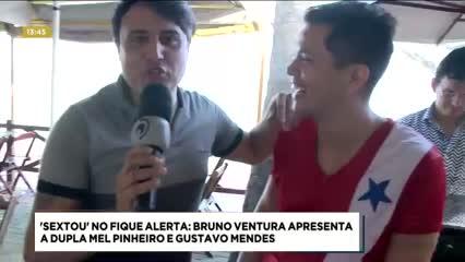 'Sextou' no Fique Alerta: Bruno Ventura apresenta a dupla Mel Pinheiro e Gustavo Mendes