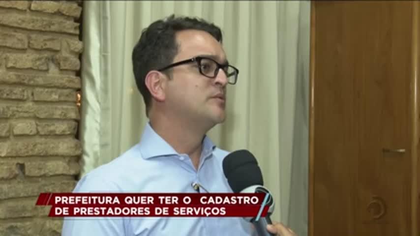 Prefeitura quer ter o cadastro de prestadores de serviços