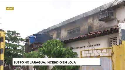 Princípio de incêndio atingiu centro automotivo no Jaraguá