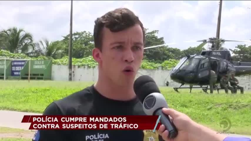 Polícia cumpre mandados de prisão contra suspeitos de tráfico de drogas em Marechal