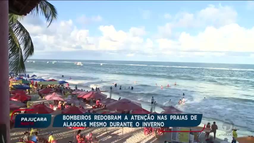Bombeiros redobram atenção nas praias de Alagoas mesmo durante o inverno
