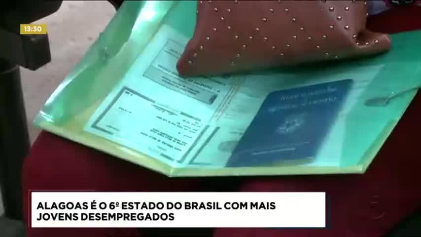 Alagoas é o 6º estado do Brasil com mais jovens desempregados