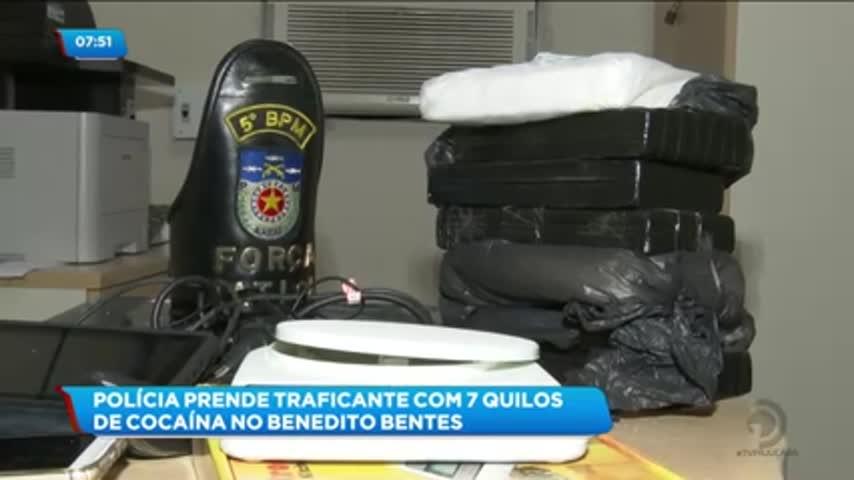 Homem foi preso com sete quilos de cocaína no Benedito Bentes